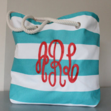 Monogrammed Beach Bags