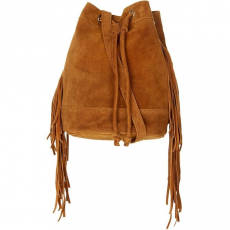 Tan Suede Fringe Bag