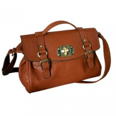Tan Satchel Bag