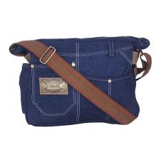 Denim Messenger Bag