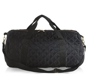 Black Quilted Duffle Bag