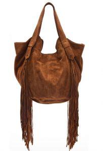 Brown Fringe Bag