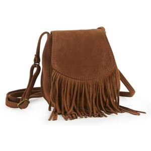 Brown Fringe Crossbody Bag