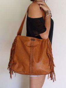 Brown Fringe Shoulder Bag