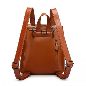 Brown Leather School Bag