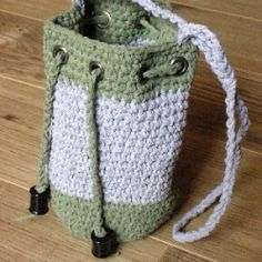 Crochet Drawstring Bag Images