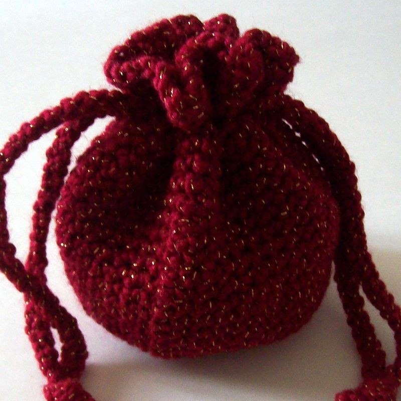 Crochet Drawstring Bag All Fashion Bags