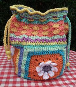 Crochet Drawstring Bags