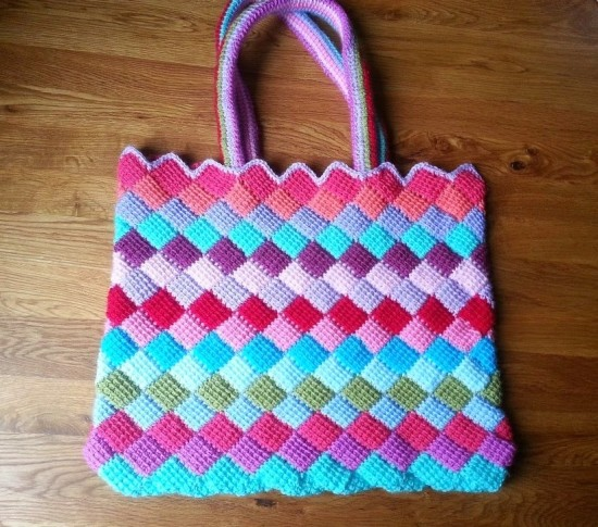 Crochet Small Tote Bag Pattern : Crochet Tote Bag All Fashion Bags