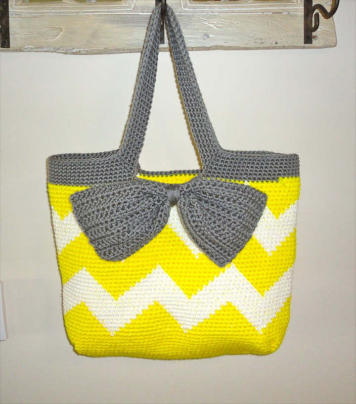 Crochet Bag With Pockets Pattern : Crochet Tote Bag All Fashion Bags