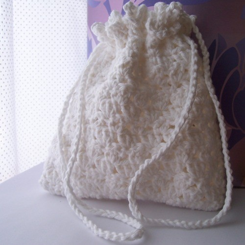 Crochet Drawstring Bag | All Fashion Bags