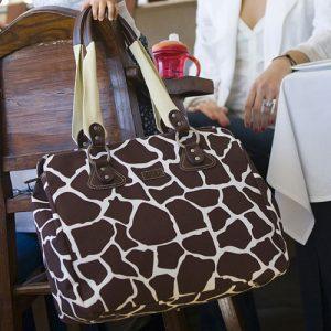 Giraffe Print Diaper Bag