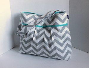 Gray Chevron Diaper Bag