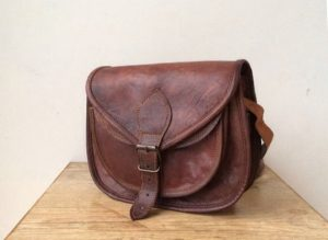 Leather Crossbody Saddle Bag