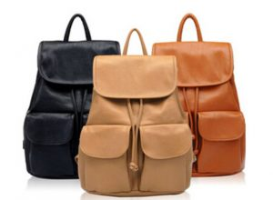 Leather School Bag for Girls