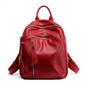 Leather School Bag for Women