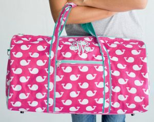 Monogrammed Duffle Bags for Girls