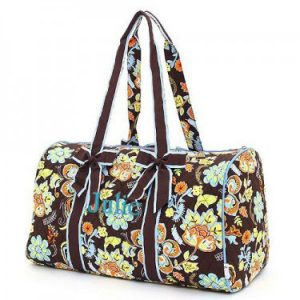 Personalized Quilted Duffle Bags