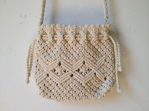 Pictures of Crochet Drawstring Bag