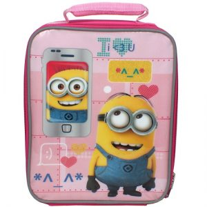 Pink Minion Lunch Bag