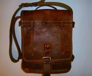 Vertical Leather Laptop Bag