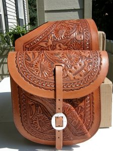 Western Leather Saddle Bags