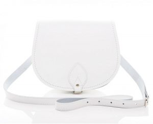 White Leather Saddle Bags