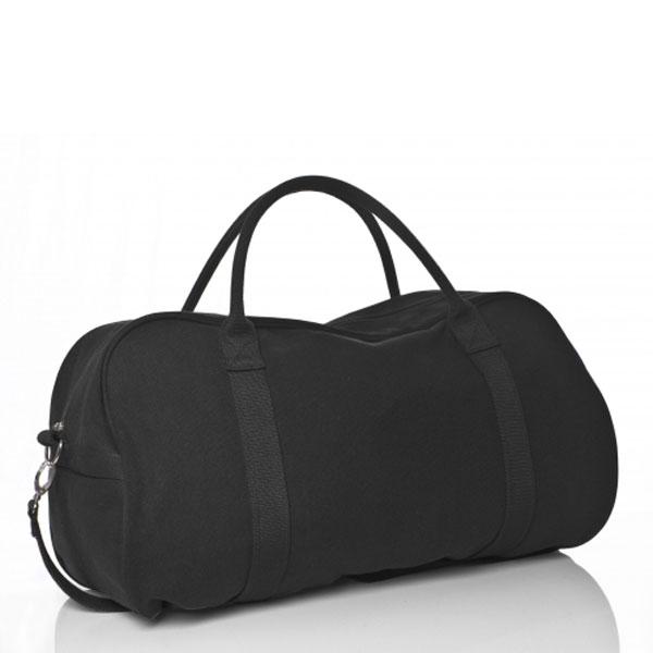 Black Canvas Duffle Bag