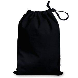 Black Cotton Drawstring Bags