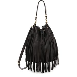 Black Fringed Bag