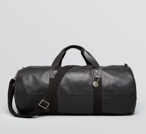 Black Leather Gym Bag