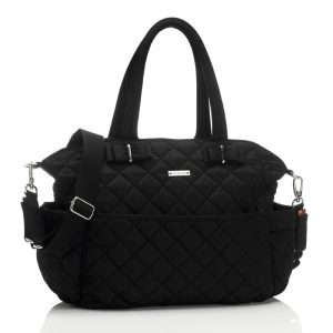 Black Quilted Diaper Bag