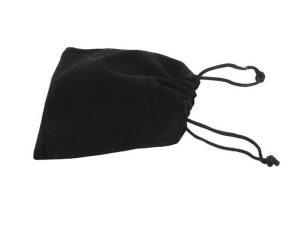 Black Velvet Drawstring Bag
