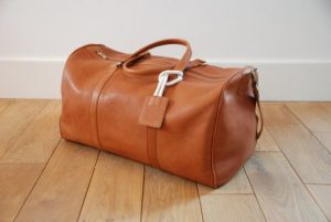 Brown Leather Gym Bag
