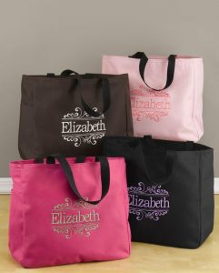 Embroidered Tote Bags for Bridesmaids