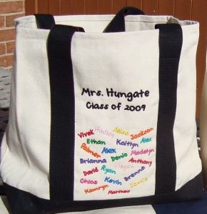 Embroidered Tote Bags for Teachers