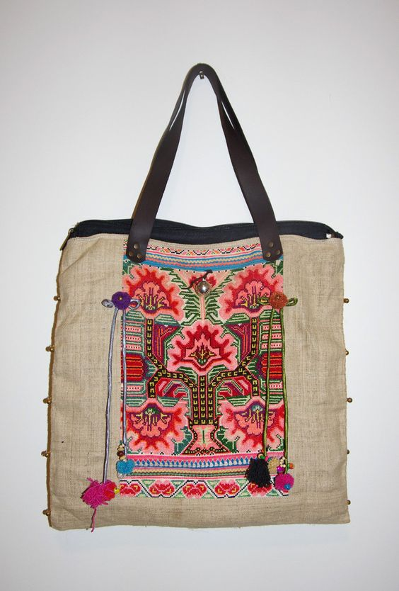 embroidered tote bags