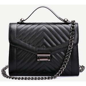 Images of Black Quilted Bag