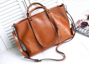 Leather Laptop Tote Bag