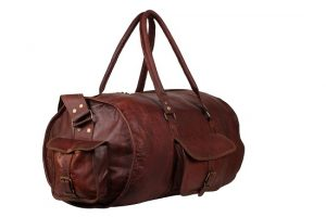 Mens Leather Gym Bag