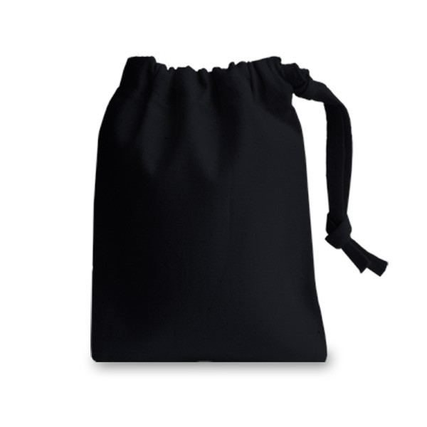 Small Black Drawstring Bag