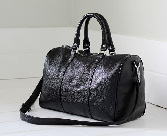 Small Black Duffle Bag. Black Leather Duffle Bag e04fa40e3