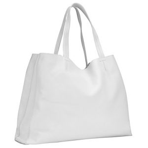 White Leather Tote Bags