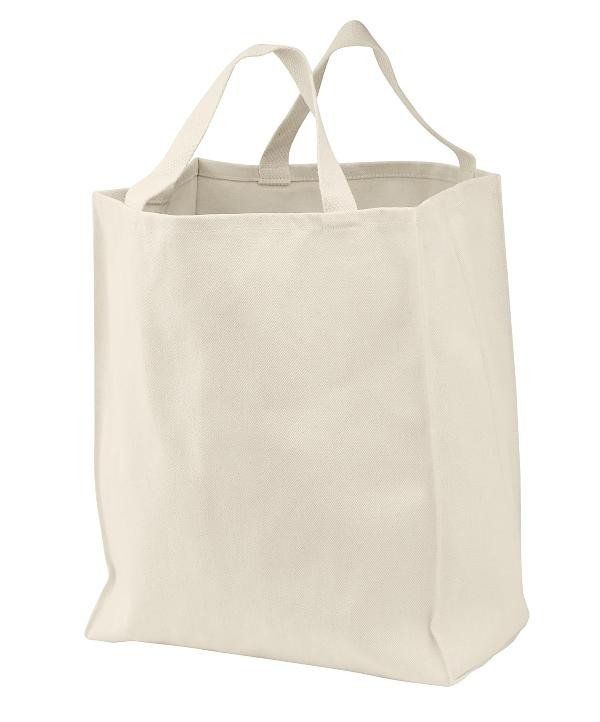 White Grocery Tote Bags
