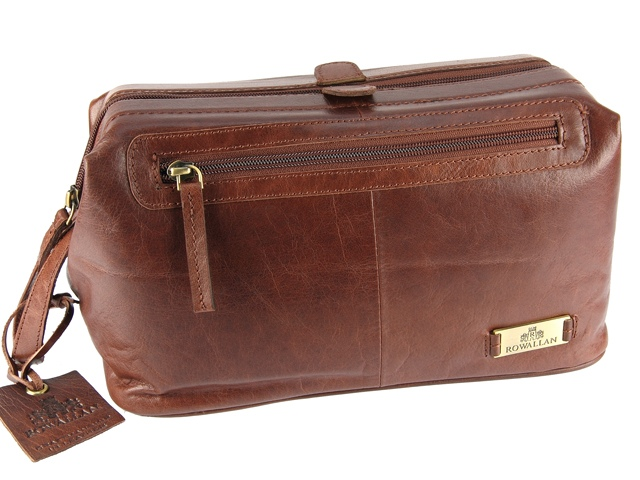 Monogrammed Leather Travel Bags