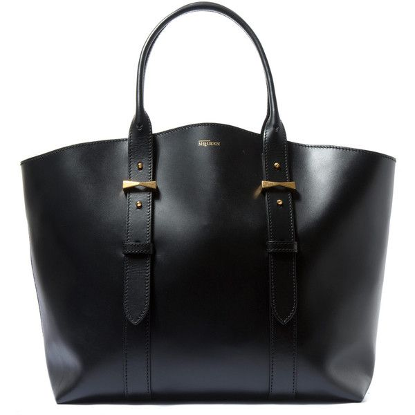 8dd2b19be038 Black Leather Tote Bag