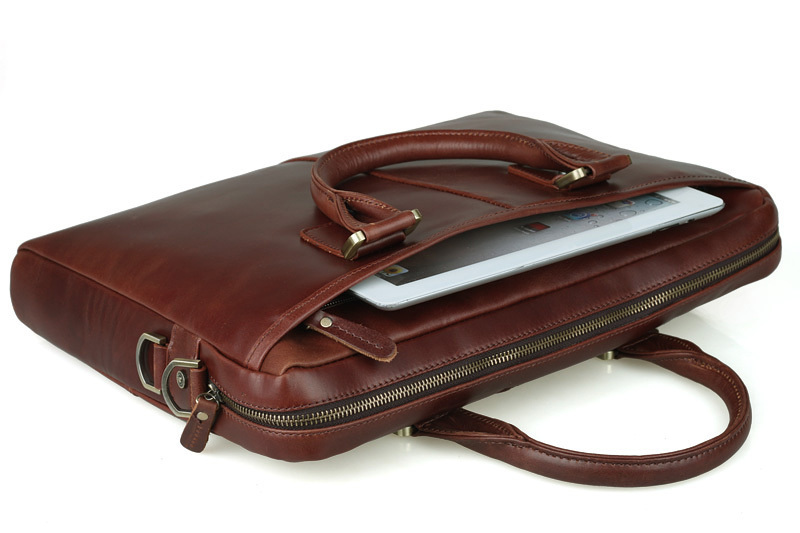 "These Italian leather laptop bags are made of top grain leather and offer a stylish way to keep your laptop computer safe and protected. Fitting for many laptop styles, from notebooks to 17"" laptops, our hand-tanned leather is finely constructed and fashioned for everyday use."