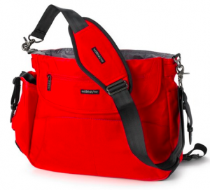Red And Black Diaper Bag
