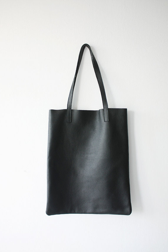 Black Leather Tote Bag | All Fashion Bags