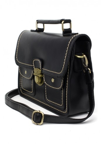 Black Satchel School Bag
